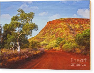 Outback Road Australia Wood Print by Colin and Linda McKie
