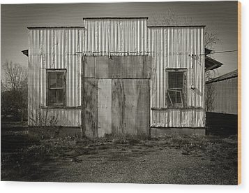 Outbuilding Wood Print by Bud Simpson