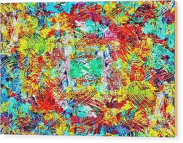 Outburst Wood Print by Steven Llorca