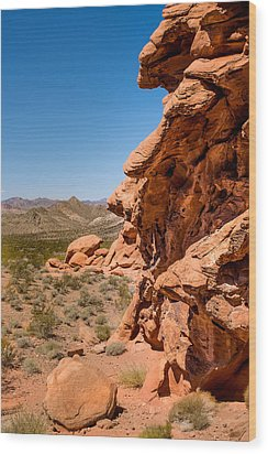 Wood Print featuring the photograph Outcrop - Valley Of Fire State Park by  Onyonet  Photo Studios
