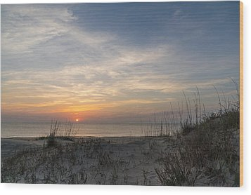 Outer Banks Sunrise Wood Print by Gregg Southard