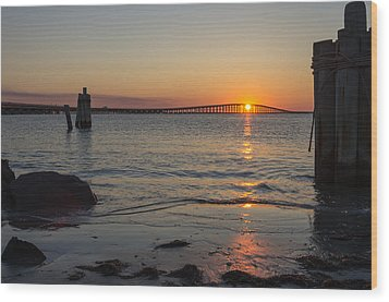Outer Banks Sunset Wood Print by Gregg Southard