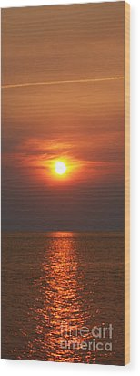 Wood Print featuring the photograph Outer Banks Sunset by Tony Cooper