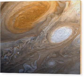 Outer Space Two Six Four Wood Print by Nasa Usgs