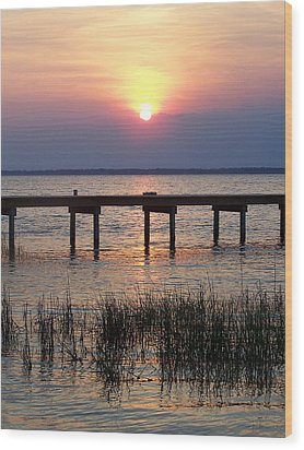 Wood Print featuring the photograph Outerbanks Nc Sunset by Sandi OReilly
