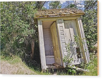 Outhouse For Two Wood Print