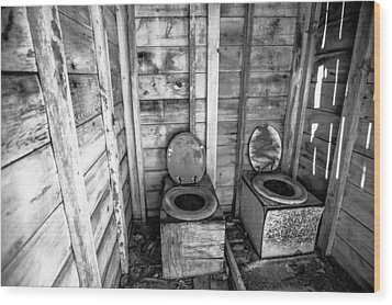 Wood Print featuring the photograph Outhouse by Robert  Aycock