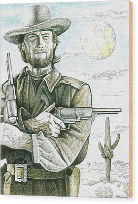 Outlaw Josey Wales Wood Print