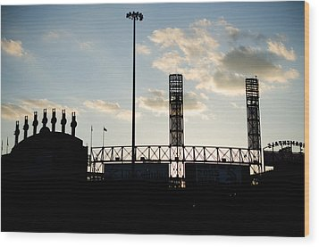 Outside Comiskey Park Wood Print