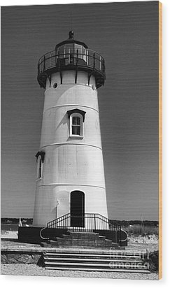 Outside Edgartown Lighthouse Wood Print by Mark Miller