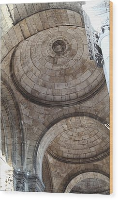Outside The Basilica Of The Sacred Heart Of Paris - Sacre Coeur - Paris France - 011311 Wood Print by DC Photographer