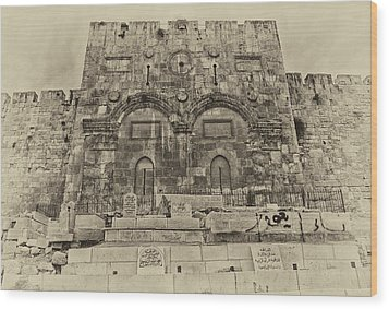 Outside The Eastern Gate Old City Jerusalem Wood Print
