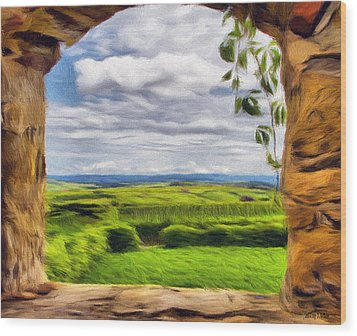 Outside The Fortress Wall Wood Print by Jeff Kolker