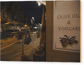 Outside The Oil And Vinegar Shop Wood Print by Jeremy Farnsworth