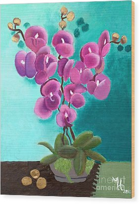 Outstanding Orchids Wood Print