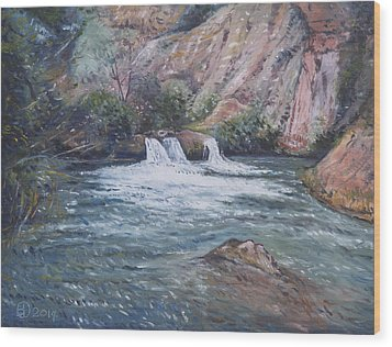 Ouzoud Waterfalls Tanaghmeilt Morocco Wood Print by Enver Larney