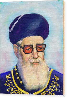 Ovadiah Yosef Wood Print by Sam Shacked