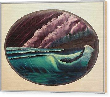 Oval Ocean View Wood Print by Joyce Krenson