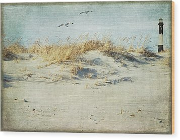 Over The Dune Wood Print