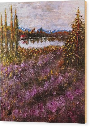 Over The Lavender Field.. Wood Print