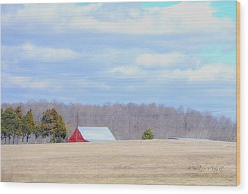 Over The Rise - Kentucky Wood Print by Paulette B Wright