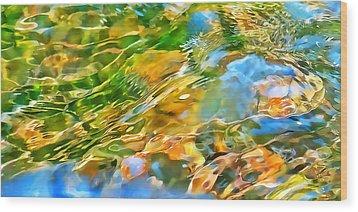 Over The Rocks Wood Print by Terril Heilman