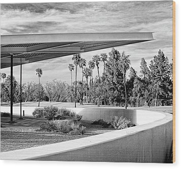Overhang Bw Palm Springs Wood Print by William Dey