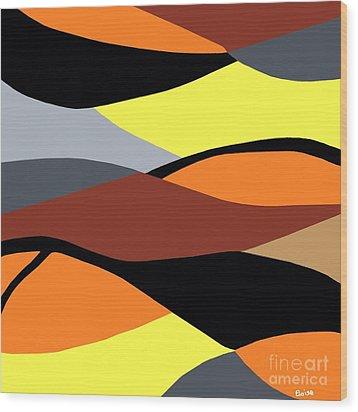 Overlap Wood Print by Eloise Schneider
