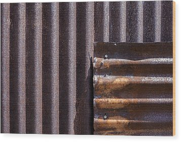 Overlap Wood Print by Fran Riley