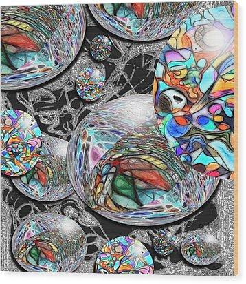 Overlap Series 1 Wood Print by George Curington