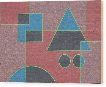 Overlay. 2003 Wood Print by Peter-hugo Mcclure