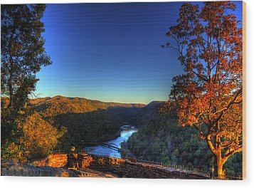 Wood Print featuring the photograph Overlook In The Fall by Jonny D