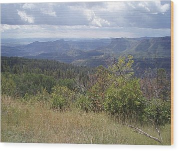 Wood Print featuring the photograph Overlook Into The Mist by Fortunate Findings Shirley Dickerson
