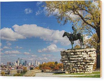 Overlooking Kansas City Wood Print
