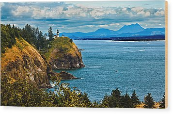 Overlooking Wood Print by Robert Bales