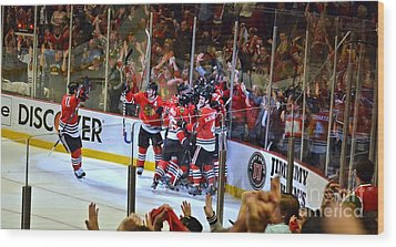 Overtime Game Winner Wood Print