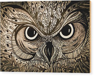 Owl Eyes Wood Print