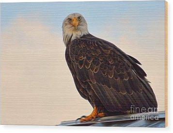 Owlish I Wood Print