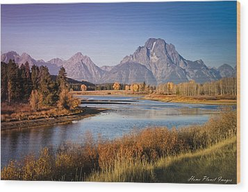 Wood Print featuring the photograph Oxbow Bend by Janis Knight