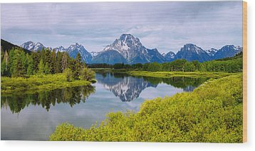 Oxbow Summer Wood Print by Chad Dutson
