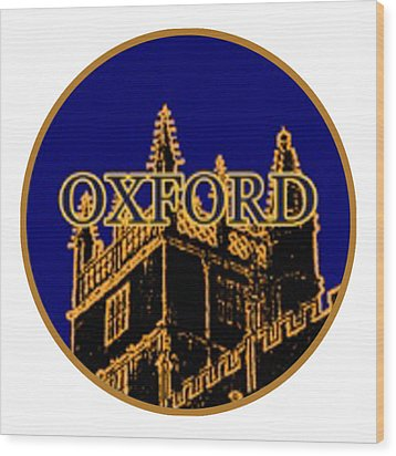 Oxford 1986 Art2579oa Jgibney The Museum Zazzle Gifts Wood Print by The MUSEUM Artist Series jGibney