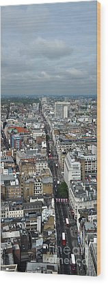 Oxford Street Vertical Wood Print