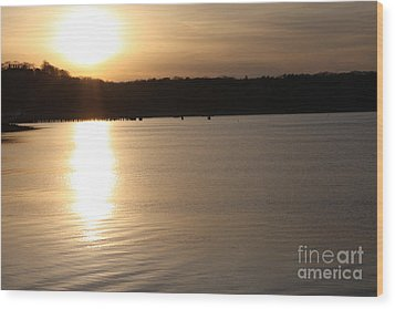 Oyster Bay Sunset Wood Print