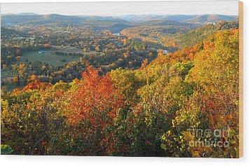 Ozark Autumn White River Valley - Arkansas/missouri Line Wood Print by Gerald MacLennon