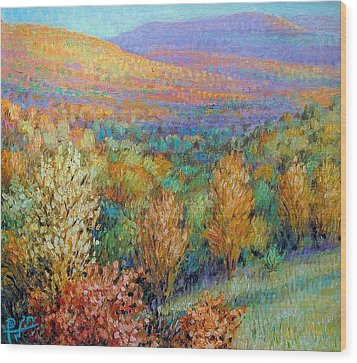 Ozark Fall Wood Print by Henry David Potwin