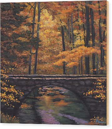 Ozark Stream Wood Print by Johnathan Harris