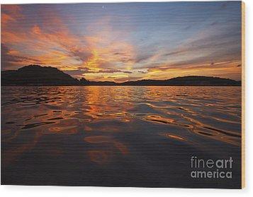 Ozark Sunset Wood Print