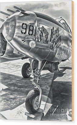 P-38 Airplane Wood Print by Gregory Dyer