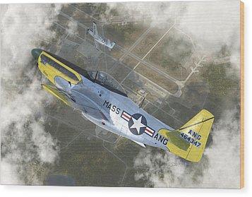 P-51 H Wood Print