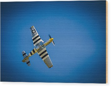 P-51 Invasion Stripes Wood Print